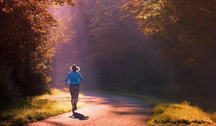 Morning run exercise